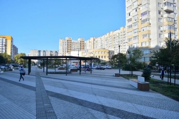 В Юбилейном микрорайоне Краснодара завершено строительство Школьного бульвара